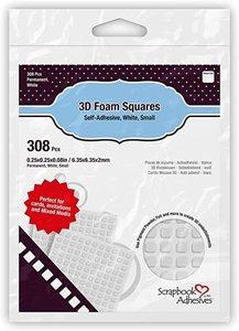 3D Foam Squares Pequeños Blanco