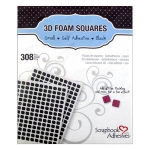 3D Foam Squares Pequeños Negro