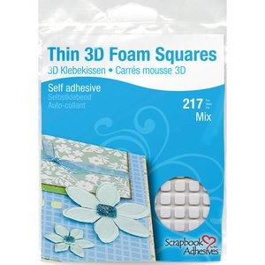 THIN 3D Foam Squares Surtido Blanco