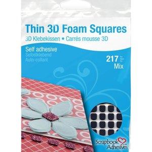 THIN 3D Foam Squares Surtido Negro