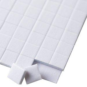 Stix2 Cuadrados de foam adhesivos 7x7x1 mm 392 pcs