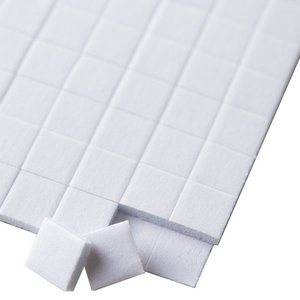 Stix2 Cuadrados de foam adhesivos 25x12x2 mm 80 pcs