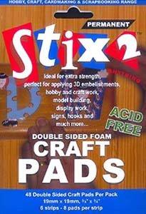 Stix2 Foam Pads 19x19x 2 mm 48 pcs