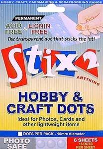 Stix2 Clear Dots Photo Safe Permamentes 10 mm 48 pcs