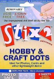 Stix2 Clear Dots Photo Safe Removibles 10 mm 96 pcs