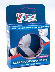 Stix2 Scrapbook Craft Dots Permanentes Ultra Finos 10 mm 250 pcs