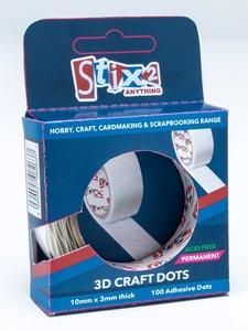 Stix2 3D Craft Dots Permanentes Gruesos 10 mm 100 pcs