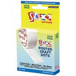 Stix2 Poster Craft Dots transparentes removibles 10 mm 200 pcs