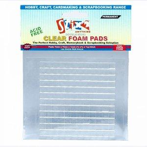 Stix2 Clear Foam Pads cuadraditos adhesivos de silicona