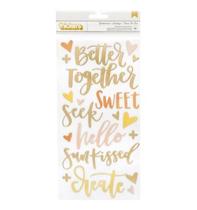 Thickers frases chipboard Goldenrod