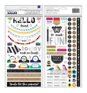 Thickers chipboard frases Hello Friend