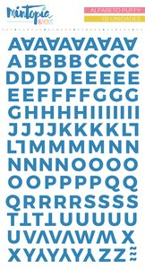 Alfabeto Mintopía Básico Puffy Azul Oscuro