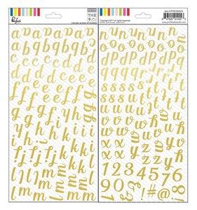Alfabeto de foil dorado The Mix