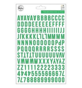 Alfabeto puffy Verde THE MIX NO. 2