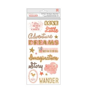 Thickers Chipboard Frases Little Adventurer Girl