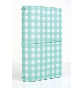 Echo Park Traveller Notebook Teal Gingham