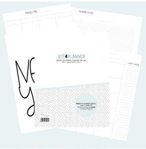 Relleno Kit4Pplanner Agenda Día vista Sin fechas