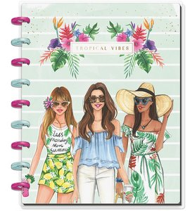 Cuaderno Medium Happy Notes Punteado Tropical Vibes