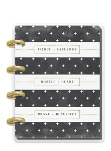 Cuaderno Micro Happy Notes Black & White Stripe