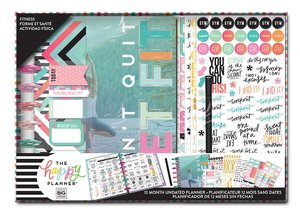 Kit Happy Planner Box Don't Quit Get Fit Sin fechas