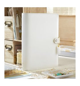 Color Crush A5 Binder - White