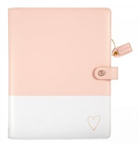 Composition Planner Blush & Gold Heart