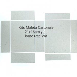 Fridita Set de cartones para montar Maleta Cartonaje 21x16 cm