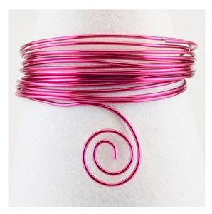 Alambre aluminio 10 m x 1 mm Strong Pink