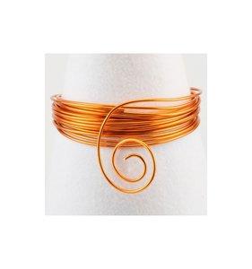 Alambre aluminio 10 m x 1 mm Saffron Orange