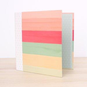 "Álbum 6""x8"" Kimidori Colors Rayas acuarela"