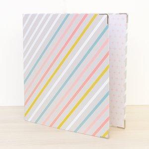 """Álbum anillas 9""""x12"""" Kimidori Colors Rayas de colores"""