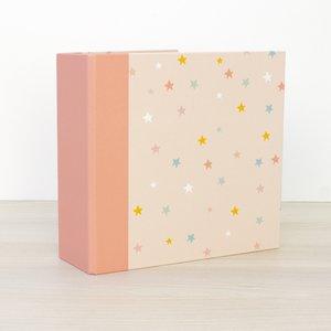 "Álbum 6""x8"" Kimidori Colors lomo ancho Estrellitas rosas"
