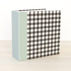 "Álbum 6""x8"" Kimidori Colors lomo ancho Vichy negro"