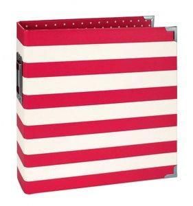 """Sn@p Binder 6x8"""" Red Stripes"""