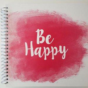 "Scrapbook Álbum espiral 12x12"" Be Happy"