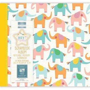 """Scrapbook Álbum 8x8"""" Hey Baby Elephants"""