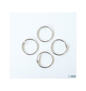 "Set 4 anillas de 1,25"" - 3,17 cm"