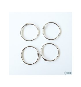 "Set 4 anillas de 1,5"" - 3,81 cm"