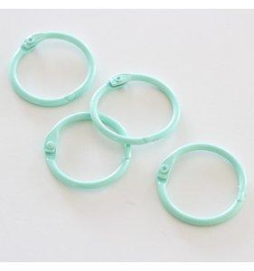 "Set 4 anillas 1"" - 2,5 cm Mint"