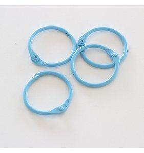 "Set 4 anillas 1"" - 2,5 cm Turquesa"