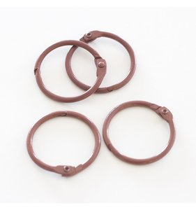"""Set 4 anillas 1"""" - 2,5 cm Marrones"""
