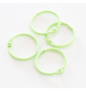 "Set 4 anillas 1"" - 2,5 cm Verde Pastel"