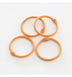 """Set 4 anillas 1"""" - 2,5 cm Naranjas"""