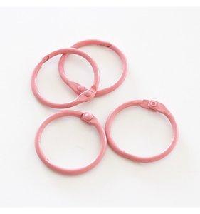 "Set 4 anillas 1"" - 2,5 cm Rosa Vintage"