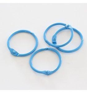 """Set 4 anillas 1,5"""" - 4 cm Azul Cielo"""