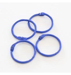 """Set 4 anillas 1,5"""" - 4 cm Azul Índigo"""