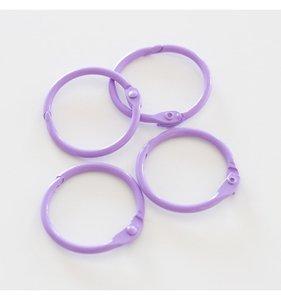 "Set 4 anillas 1,5"" - 4 cm Lilas"