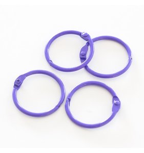 "Set 4 anillas 1,5"" - 4 cm Violetas"