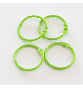 "Set 4 anillas 1,5"" - 4 cm Verde Lima"