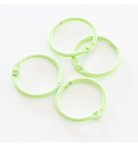 "Set 4 anillas 1,5"" - 4 cm Verde Pastel"